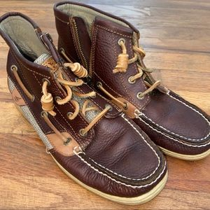 Sperry Top Sider Brown Leather Marella Boots